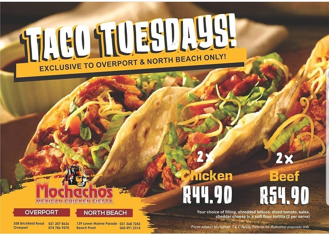 Join Mochachos For Taco Tuesday Durban Restaurants